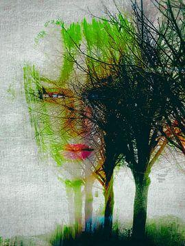 One woman in the autumn van Gabi Hampe