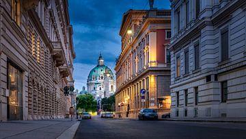 Wenen - Uitzicht op de Karls kerk van Rene Siebring