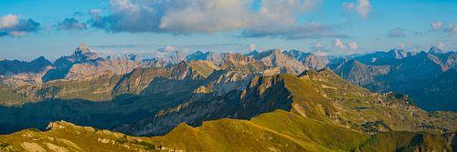 Panorama vom Nebelhorn, Allgäuer Alpen von