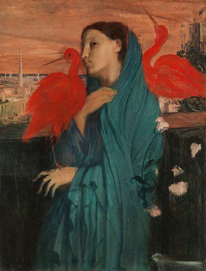Jonge Vrouw met Ibis, Edgar Degas van Meesterlijcke Meesters