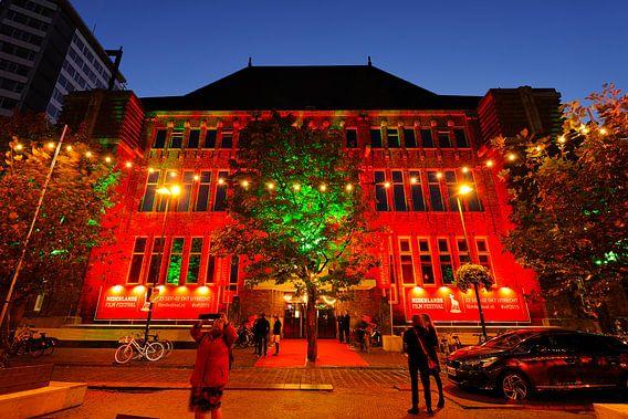 Festivalhart Nederlands Film Festival in oude postkantoor in Utrecht