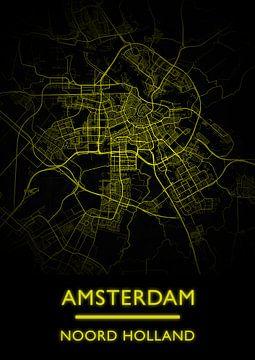 Plattegrond Amsterdam Nederland van Bert Hooijer