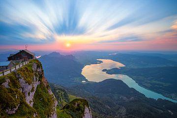 Porte céleste au coucher du soleil sur Silvio Schoisswohl