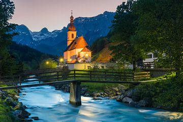 St. Sebastianskirche, Ramsau, Deutschland von Henk Meijer Photography