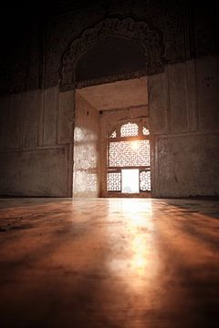 belle salle d'ensoleillement dans le temple Raj Mahal sur Karel Ham