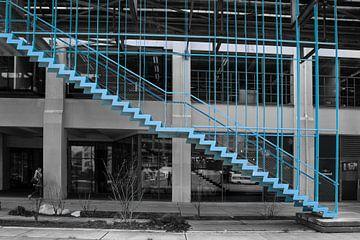 De blauwe trap op Strijp-S van Klaartje Majoor