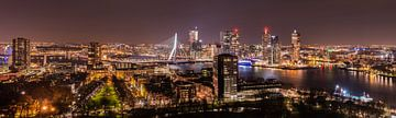 Rotterdam Panorama bij nacht / Rotterdam by night von Elles Rijsdijk