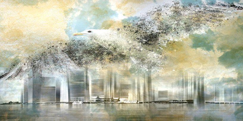 Fantasy Composing NYC & Seagull van Melanie Viola