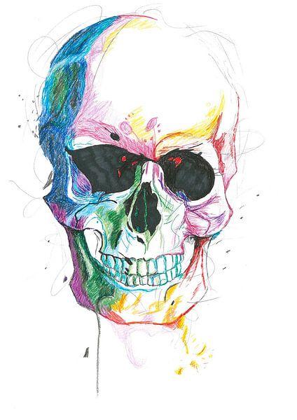 Colour Skull van Debby Saat