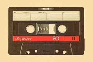 De oude eighties audio cassette