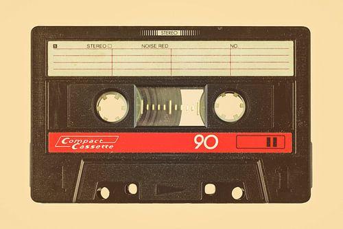 Retro Stil Bild einer alten Kompaktkassette von Martin Bergsma