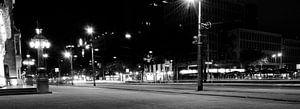 Stadhuis Rotterdam in de nacht van