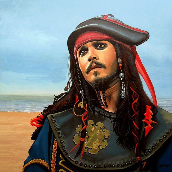 Kapitein Jack Sparrow Schilderij