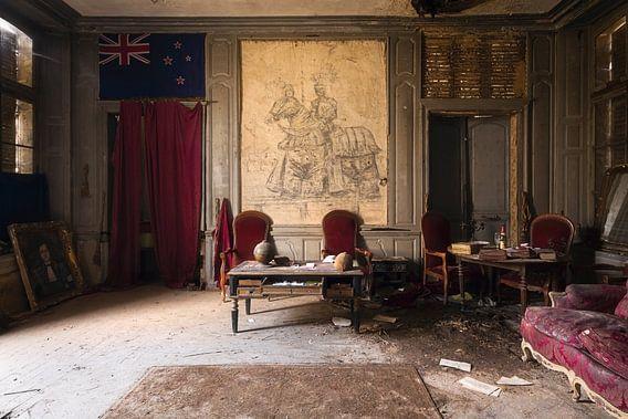 Bureau in een Verlaten Kasteel.