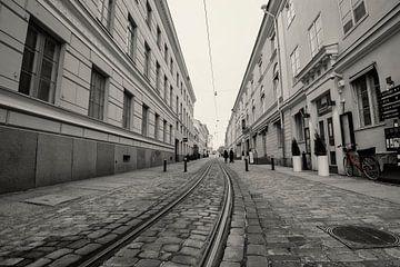 Straatbeeld in Helsinki von Leon Doorn
