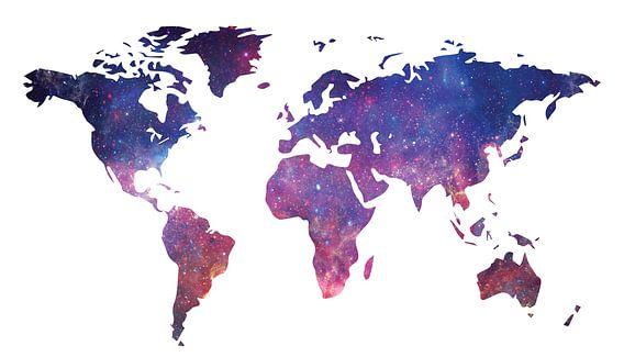 Galaxy Wereldkaart van World Maps