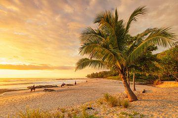 Playa Santa Teresa bij zonsondergang, Costa Rica van Markus Lange