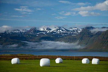 Besneeuwde bergtoppen in IJsland von
