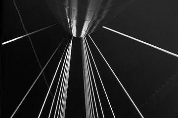Prinz Claus Brücke in schwarz und weiß von Wim Stolwerk