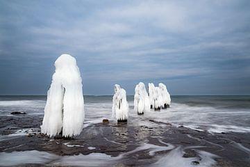 Winter on the Baltic Sea coast van Rico Ködder