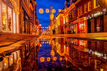 Blauw uurtje Langestraat van peterheinspictures