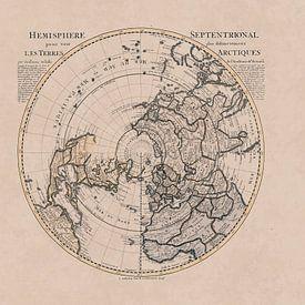 Carte historique de l'hémisphère nord et du pôle nord sur Andrea Haase