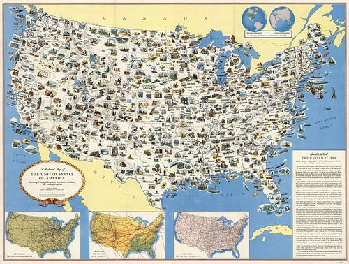 Bildkarte der USA von World Maps