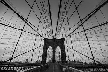 Linien - Brooklyn-Brücke von Jan-Hessel Boermans