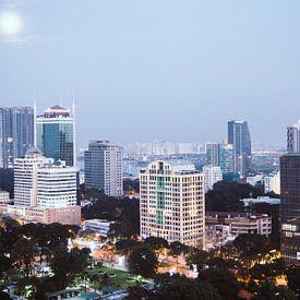 View over Ho Chi Minh City, Vietnam von Milou Oomens