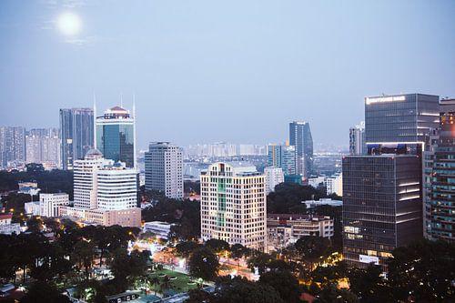 Uitzicht over Ho Chi Minh City, Vietnam van