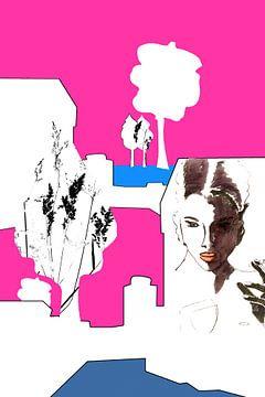 WhiteCube Woman 1 von Iris-Alexandra Hass