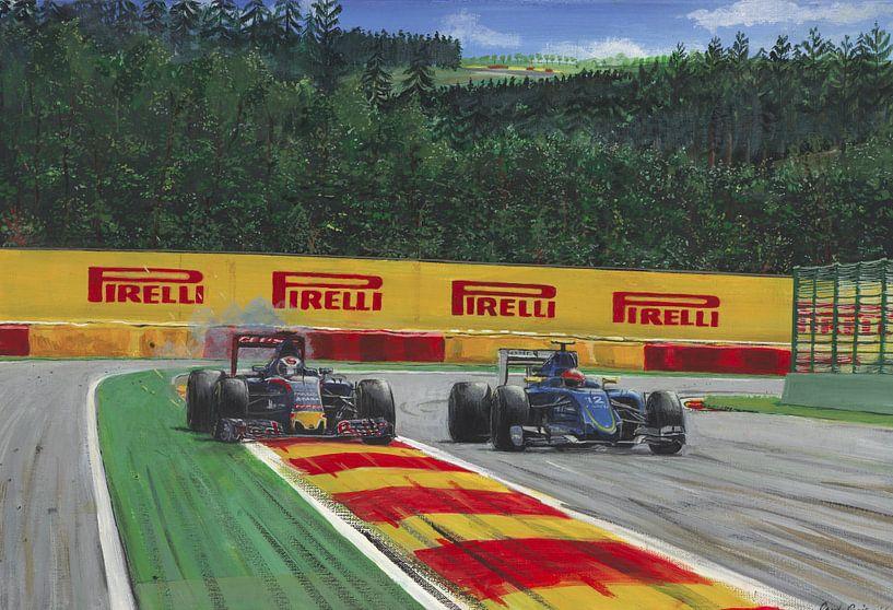 Max Verstappen at Blanchimont Spa 2016 von paul smit