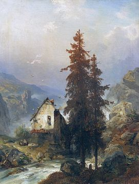 Mühle im Gebirgstal, CARL HILGERS, 1879