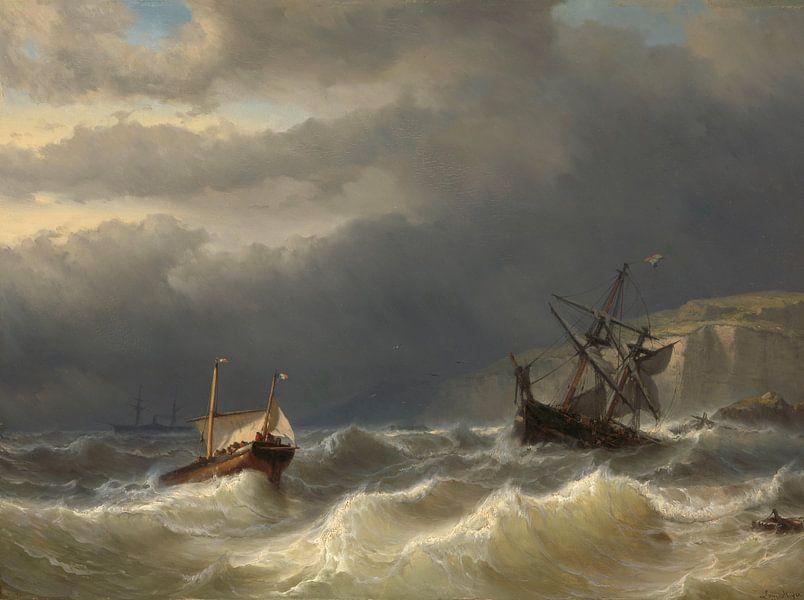 Storm in het Nauw van Calais - Louis Meijer van Marieke de Koning