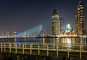 Rotterdam skyline.