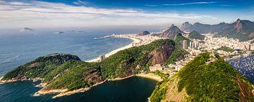 Panorama landschapsgezicht van de Suikerbroodberg naar Rio de Janeiro van Dieter Walther