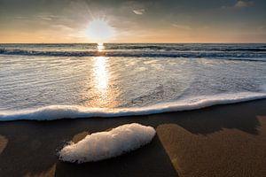 Zonsondergang bij het strand van Katwijk