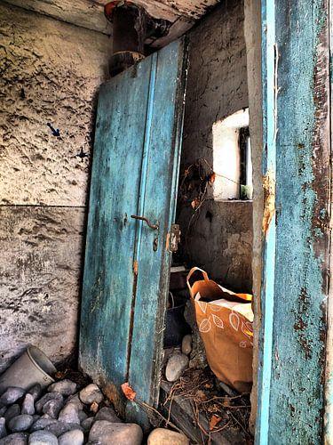 Blaue Tür van
