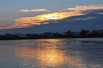 zonsondergang in Tijnje van Lize Talsma