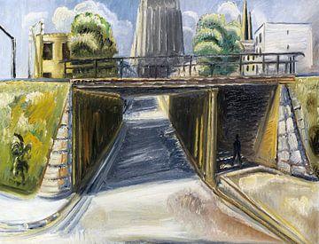 Viaduct in Ulm, Paul Kleinschmidt,  1933 van Atelier Liesjes