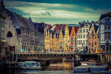 Stadtbild von Gent von Helga van de Kar