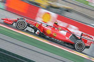 Ferrari van Kimi Räikkönen op Spa-Francorchamps van