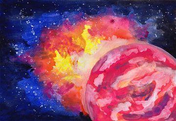 Roze Planeet Explosie van ZeichenbloQ