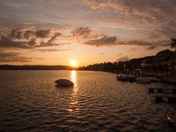 Sonnenuntergang am Bodensee von Rinke Velds