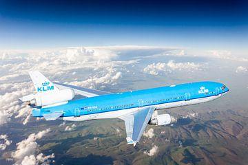KLM McDonnel Douglas MD-11 hoch über Osteuropa von Jeffrey Schaefer