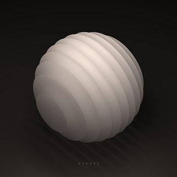 Geometrisch lichaam: bol (met tekst) van Jörg Hausmann