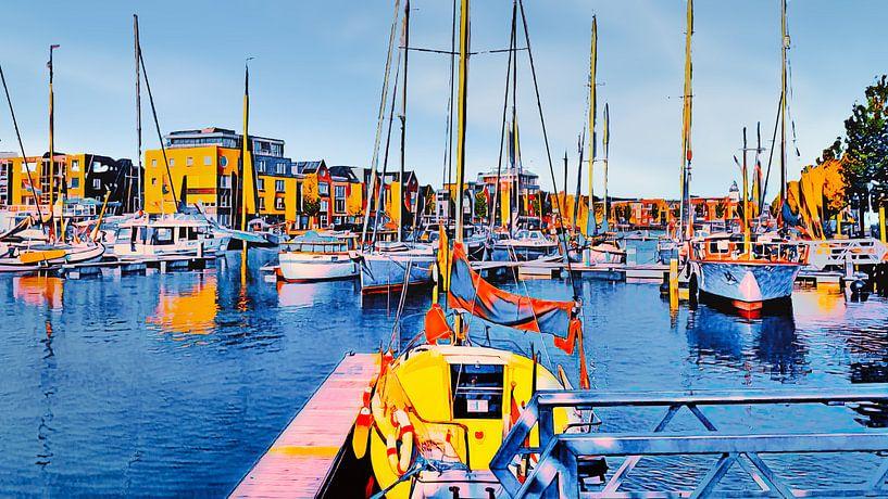 Zuiderhaven Harlingen von Digital Art Nederland