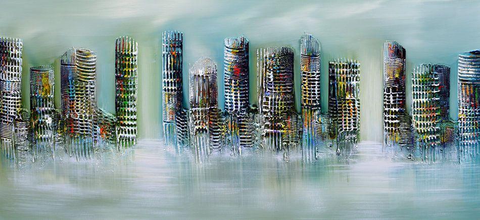 Skyline city  van Gena Theheartofart