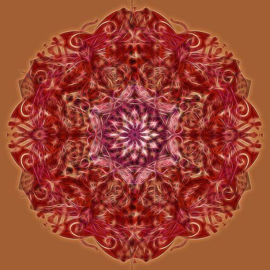 Kaleidoscoop, rood