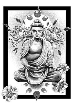Boeddha van Inderpreet Singh